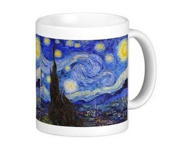 ゴッホの「星月夜」のマグカップ