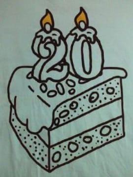 Mr.Children ミスチル 20周年 コンサート 限定 Tシャツ ブルー Sサイズ ケーキ