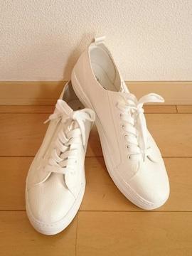 未使用*レザー風スニーカー*ホワイト
