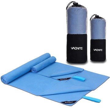 VACNITE 2枚 速乾タオル ブルー