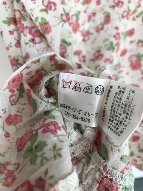 花柄の半袖トップス ガーリー オリーブデオリーブ < ブランドの