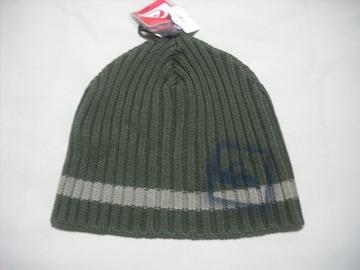 mb686 男 QUIKSILVER クイックシルバー ニット帽 ビーニー 緑