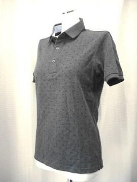【ユニクロ】【未使用品】グレー/黒ドットのポロシャツ