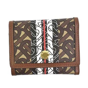 ◆新品本物◆バーバリー LS LANCASTER 3つ折財布(BK)『8018829』◆