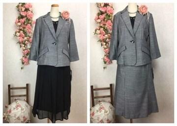 11-4E★ 11号 新品  ・インナー・スカート×2点セット スーツ