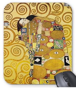 グスタフ・クリムト『 抱擁 』のマウスパッド(縦位置)