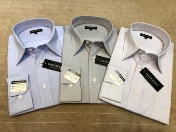 新品・長袖ワイシャツ ストライプ(い) 3枚セット Lサイズ
