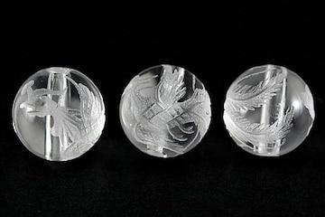☆鳳凰天然水晶☆10mm手彫りビーズ 1個