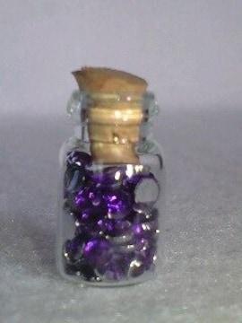 送料無料/キラキラダイヤカットメタリックパープル小瓶詰め込み
