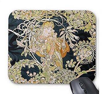 アルフォンス・ミュシャ『 ヒナギクを持つ女性 』のマウスパッド