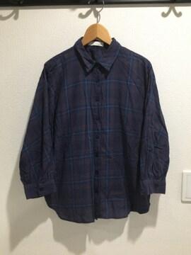 アメリカンホリック ネルシャツ チェック シャツ 7分丈 5部丈 レディース 薄手