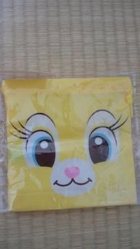 ミスバニー巾着袋ディズニーオールスターフェイス新品ウサギ