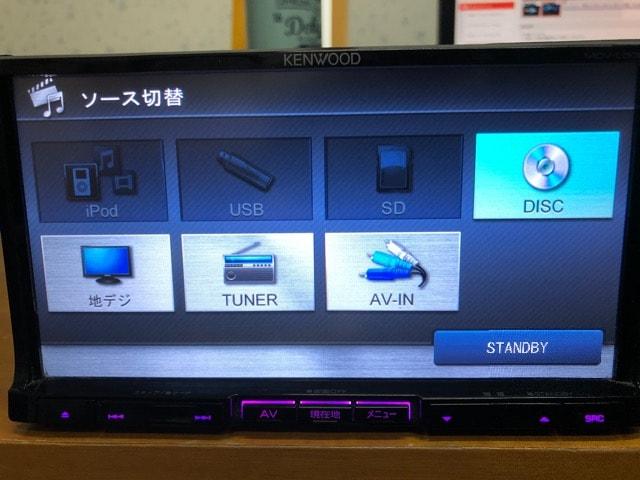 ケンウッド 彩速ナビMDV-L500 4×4地デジ内蔵 DVD再生 < 自動車/バイク