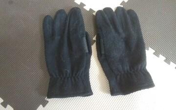 黒の手袋 滑り止め付き