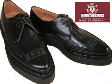 ジョージコックス 新品パンク ロック トンガリ靴3705黒uk8.5