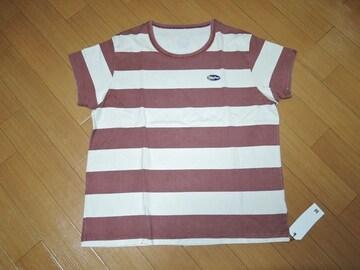 新品エムM古着加工ボーダーTシャツMカットソーTMT