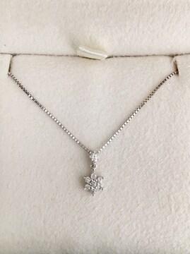 ヴァンドーム青山 ダイヤモンド ネックレス K18WG 0.16ct