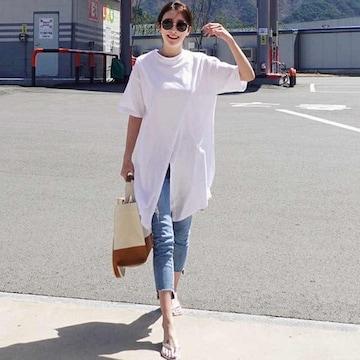 Y58即決 新品 ロング Tシャツ 白 XL ザラ マウジー GU セシル ユニクロ 好きに