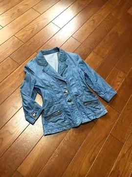 【美品】RPB◆薄手7分袖◆スタイリッシュデニムジャケット◆2