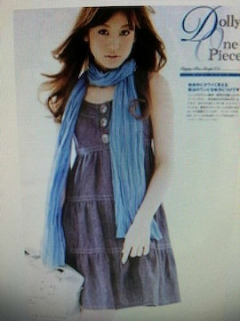 ☆BURBERRY BLUE LABEL☆デニムティアードワンピ☆雑誌掲載☆