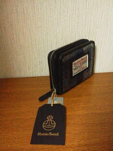 新品□ハリスツイードxしまむらコラボ二つ折り財布