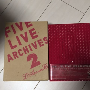 FIVE LIVE ARCHIVES 2☆L'Arc-en-ciel☆ライブDVD☆完全生産限定