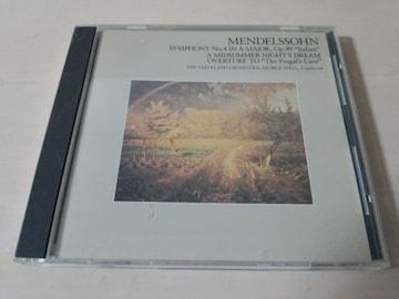 CD「メンデルスゾーン:交響曲第4番「イタリア」」ジョージセル