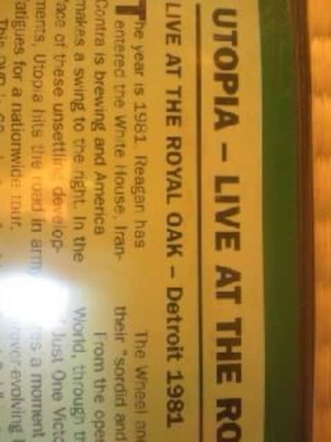 DVDソフト UTOPIA:LIVE AT THE ROYAL OAK 輸入盤 未開封 洋楽 < タレントグッズの