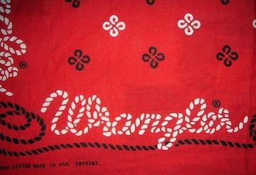 ビンテージ Wrangler ラングラー バンダナ USA製 縄文字 レア
