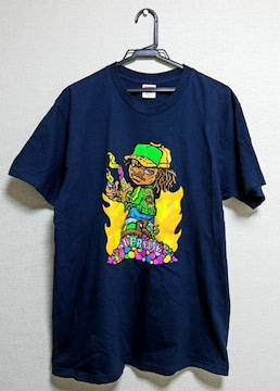 ★送料無料★Supreme★week6/Molotov Kid Tee★ネイビー L★美品★