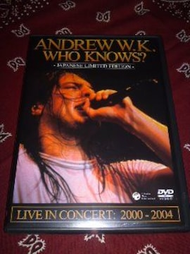 Andrew w.k/Who knows? Live DVD