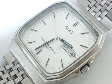 12007/SEIKOセイコー★ALBAアルバ人気のスクエア型ケースメンズ腕時計☆