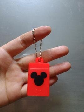 新品★ミッキー【LEGO】ブロックみたいなキーホルダー=赤=