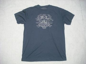 40 男 ラルフローレン 紺 半袖Tシャツ L