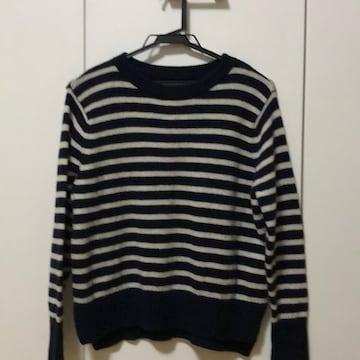 暖かいcoenのセーター。ドルマンボーダーニット。