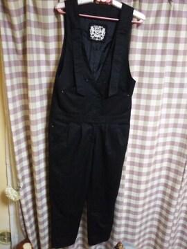 ★LIZ LISA DOLL オシャレデザイン オーバーオール サロペット ブラック 星飾り●