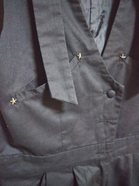 ★LIZ LISA DOLL オシャレデザイン オーバーオール サロペット ブラック 星飾り● < 女性ファッションの